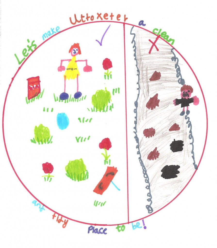 6 years and under winning entry by Charlie Hancocks of the Heath Big Local Cleaner Streets and Parks Initiative competition