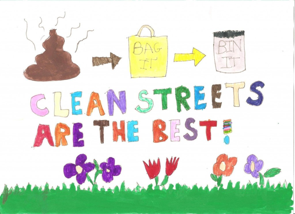 Ages 7 to 9 winning entry of the Heath Big Local Cleaner Streets and Parks Initiative by Ewan Redmond