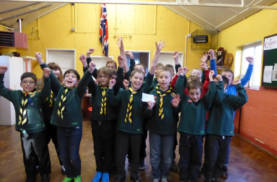 HBL cheque presentation to 1st Uttoxeter Scouts