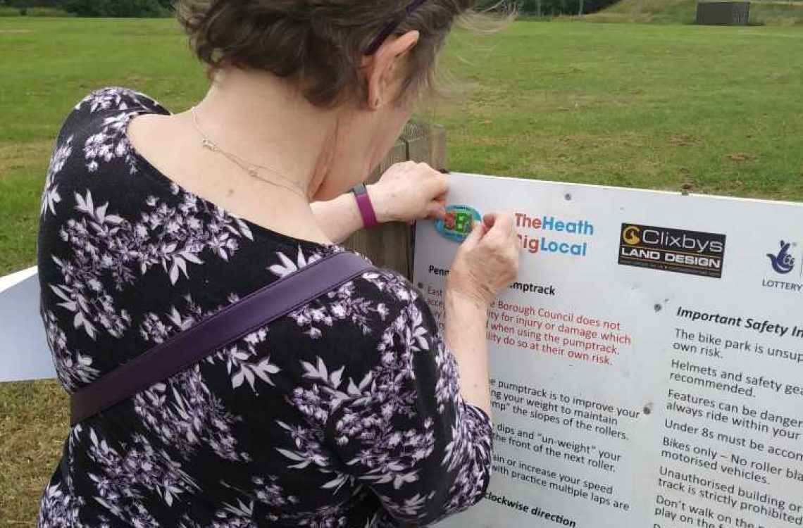 Look out for Heath Big Local stickers